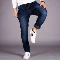 Classic Design Hommes Jeans en denim extensible taille élastique Spandex Jeans Pantalons Taille Plus 5XL 6XL 48 regualr Fit