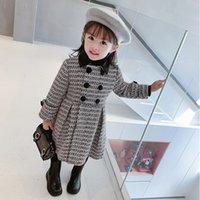 Gooporson Fashion Fall abrigo para niña tejer largas tops espesados invierno niñas chaqueta abrigos lindos coreanos niños trajes LJ201125