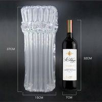 400pcs 32x7CM 7 Spalten Flasche Schutz Weinflasche Tasche bewegliche aufblasbare Luft Verpackung Blase Tasche Endlagendämpfung Wrap Travel Accessory Pack