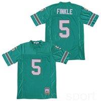 Miami Le Ace Ventura Jim Carrey Teal 5 Ray Finkle Film Football Jersey Couleur Vert équipe Tous Cousu Respirant pur coton de bonne qualité