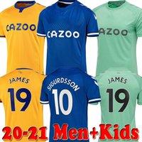 JAMES رودريجيز 2020 2021 للرجال + اطفال كرة القدم بالقميص سيجوردسون كين ديلف Gbamin أندريه جوميز الرئيسية بعيدا الثالثة 20 21 قمصان Richarlison كرة القدم