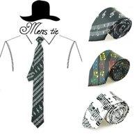 """남성용 넥타이 2 인치 넓은 """"음악 노트와 스펙트럼 라인""""클래식 파티 공식 드레스 선물 웨딩 셔츠 Cravat1"""