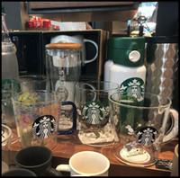 냉기, 스타 벅스 유리 머그잔, 무료 배송시 색상을 변경하는 최신 12 온스 스타 벅스 유리 커피 머그잔