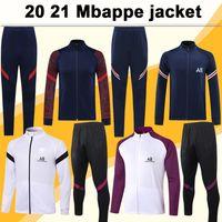 20 21 Mbappe Icardi Jacket Kit Homens Jerseys de futebol Verratti Draxler mangas compridas camisas de futebol de futebol top di maria terno camisas de futebol