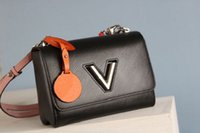 뜨거운 판매 클래식 원래 고품질 럭셔리 디자이너 가방 트위스트 mm 핸드백 가죽 숄더백 크로스 바디 가방 6 색 무료 배송