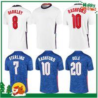 2020 Inglaterra Dele Alli Alli Futebol Jerseys Kane Rashford Vardy Barkley Sturly Sturridge Sancho Jersey 2021 Homens adultos + Kit Kit Camisa de futebol