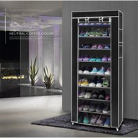 10 слоев 9 Сетка для обуви Шкаф для обуви Полка для хранения Шкафы Организатор Кабинета портативный US Drop Dross 201030