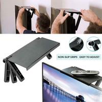 Pieghevole universale Smart TV Box Stand DVD Set per supporto Top Box Supporto per supporto del router Parete per muro Staffa a muro Standing Steady