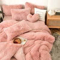 Vier-teilige warme Plüsch-Bettwäsche-Sets König Königin Größe Luxus-Quilt-Cover-Kissenbezug Bett-Bettdecken Sets Chic