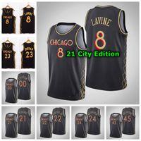 2021 Mens Hot Pressing Personalizado Basketball Jersey 23 Lauri Markkanen Zach Lavine Michael 45 Valentim 21 Jovem 22 Porter