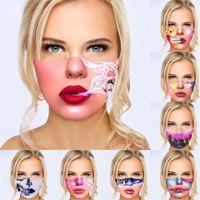 Labios de Halloween máscara de impresión manera 3D Digital Earloop lavable de moda el uso de mascarillas de protección a prueba de polvo para adultos Mascherine G2 3 8YA