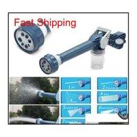 Multi-funzione 8 in 1 spruzzo spruzzo di pistola ad acqua Dispenser Giardino Spruzzatore di plastica Tubo del tubo del tubo di plastica EZ Jet Water Cannon Spray Qyllwq YH_pack