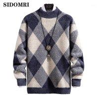 봄 가을 남성 스웨터 스트리트웨어 일본 스타일 스웨터 남성 캐주얼 하라주쿠 긴 소매 남자 의류 Turtelneck Men1