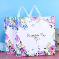 التسوق البلاستيكية التعبئة حقيبة الملابس حلية سيدة تغليف أكياس الأزياء النسائية الزهور الفراشات حقائب جميلة يوم 0 69hh F2