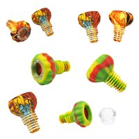 Multicolor Silikonschale für 18mm Silikonbongs Tragbare Graffiti Muster Rauchende Schüsseln Hohe Qualität Raucher Zubehör Silikon Kräuterschüssel