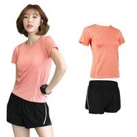 Беговые спортивные фитнес 2 частей набор удобных беговых костюмов для бегунов Женщины плюс размер XXXL Cousssuit Yoga Sport одежда KG-508