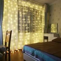 LED Garland Icicle String Lights 2 3 6M Remote 7 Flash Chris...