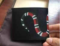أسود جلد طبيعي الرجال قصيرة billfold محفظة جلد البقر الجلود بطاقة الائتمان حامل المحفظة أزياء الأفعى بطاقة الهوية محافظ للرجل