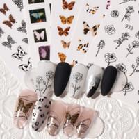 Feuille papillon noir blanc fleur blanc autocollant sexy léopard animal décalque rose géométrie auto-adhésif décor