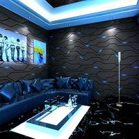 Fonds d'écran KTV Papier peint 3D Technologie stéréoscopique Internet Café Fond en direct Thème Vive E-Sports El Décoration Couverture murale