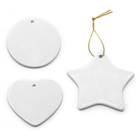 Sublimation Blank Ceramic Pendant Creative Christmas Ornamen...