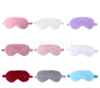 Masques oculaires en peluche doux de soie amour nuage couverture oculaire couverture de lapin plumre masque de couchage oculaire dessin animé nade nuance bandes bandes en gros DB468