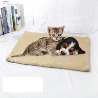 Hundehäuser Zwinger Zubehör Selbstheizungskissen Kennel Cover Katze Welpen Schlafmatte Schöne Wolle Matratze Winter Warm Bett Weiches Fleece Haustier