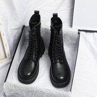 الأحذية Yuxiang الخريف المرأة جولة تو مشبك الأحذية الداخلية زيادة الأزياء زائد حجم الكعوب مربع Lacing1