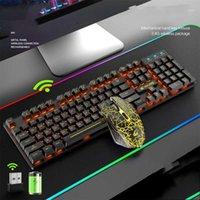 Tastiera mouse meccanico spagnolo wireless mouse da gioco PC Gaming backlit per Razer A Tablet Kit Kit Gamer Mechanical PC1