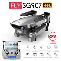 Salmof SG907 SG901 GPS RC Quadcopter Wifi FPV ile 1080 P 4 K HD Çift Kamera Optik Akış Drone Me Mini Dron VS E502S LJ200827 takip