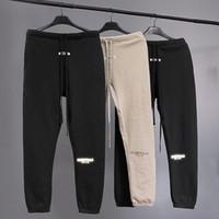Mejores pantalones Calidad Niebla Esencial impresa de las mujeres de los hombres del basculador pantalón Hiphop Streetwear Loose Fit pantalones ocasionales 200930