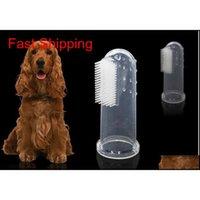 Animaux de compagnie Fournitures chat chien jouets doux doigt brosse chien brosse à dents mauvais respiration soin dentaire tartare chien chien chat nettoyer qylvcu maison2011