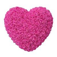 Dropship 35 cm Roses corazón Flores artificiales del hogar Festival de boda DIY Barato de la boda Decoración de la guirnalda Artesanía El mejor regalo para Cristo