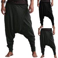 Hombres incerones Pantalones Harem Drop Pockets Joggers Pantalones sólidos Hombres sueltos Hip-Hop Baggy Pantalones Mujeres Casuales Yoga-Pants 5XL1