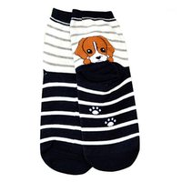Socken Strumpfwarengroßhandel - Tiere Cartoon Frauen 3D Print Hunde Welpen Casual Meias Retriever Schnauzer Husky Baumwolle Skarpetki # OR1