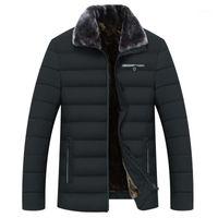 Herren Down Parkas Nizza Stil Winter Männer Warme Mantel Dicke Fleece Mode Lange Jacken Herren Markenkleidung Männlicher Mantel Pelzkragen1