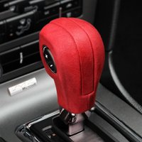 Alcantara Handbrake Cases Suede Wrapping Gear Shift Knob ABS Trim Cover Car Sticker Decoration for Mustang 2009-2013 Accessories