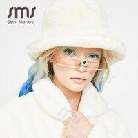 Óculos de sol Sen Maries Moda Pequeno Diamante Mulheres Colorido Rhinestone Flor Cristal De Rimless Sun Óculos para Female1