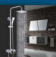"""Banheiro chuveiro cabeças 1 pcs 8 """"aço inoxidável cabeça quadrada de aço inoxidável Pulverizador de cabeça Top Chrome Finish1"""