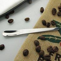10pcs Cuchara de café de acero inoxidable Cuchara de mezcla de alta calidad T200111
