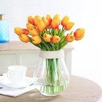 الزهور الزهور إكليل الفرح Enlife 10 قطع الزنبق الاصطناعي زهرة حقيقية اللمس tulipe الديكور وهمية الزفاف ديكور