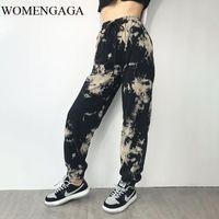 WOMENGAGA 2020 Autumn Camouflage High Waist Loose Slimming Straight-leg Harem Pants Trendy Sports Casual Trousers 70EK