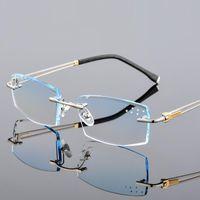 0 ~ +/- 4.50 1.61Custom Finished Brillen Herren Randlos Brillen Rahmen Ultra Titanium Finished Optik Gradient Lens