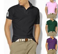 Versiones en caliente para hombre Top Cocodrilo Bordado Polo Camisa de polo de manga corta Polo Sólido Hombres Polo Homme Slim Hombres Ropa CAMISAS POLOS SHIRT S-6XL
