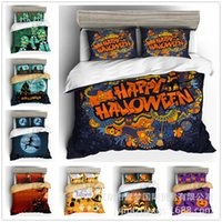 Hot Sale 3D Printed Halloween Bedding Sets Pillowcase Quilt Cover Three-piece Set Cover Brand Bed Comforters Sets Chic