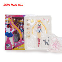 Sailor Moon Figure Tsukino Usagi Figure Mercury Mars Venus Jupiter 20TH Anniversary Movable Joints Black Lady Action Figure 15cm 201202