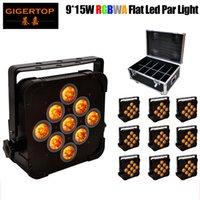 TIPTOP 9x15W بقيادة الاسمية يمكن DJ الإضاءة 140W شقة 5 في 1 RGBWA 5/9 قنوات DMX 512 حالة الألومنيوم ديسكو الإضاءة Flightcase 10 في 1