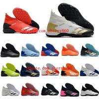 2020 المرابط الرجال لكرة القدم PREDATOR 20.3 Laceless TF أحذية كرة القدم أحذية كرة القدم في الأماكن المغلقة عالية في الكاحل بوتاس دي كالتشيو أعلى جودة