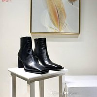 Classic high- heeled leather ankle boots, ladies stylish cowh...