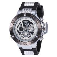 Venda Quente Esportes Calendário Casual Masculino Relógio de Quartz Invicta DZ7333 Rotating Dial Todas as mãos podem ser operadas PU Strap